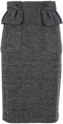 Burberry tweed pencil skirt