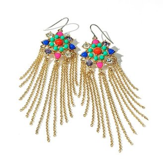 Vera Wang Princess gold tone fringe drop earrings