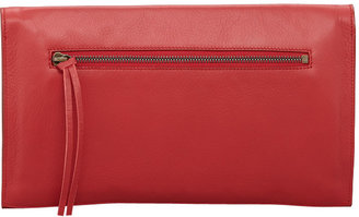 Balenciaga Paper View Clutch Bag, Rouge