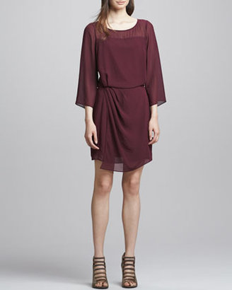 Elizabeth and James Surai Chiffon Faux-Wrap Dress