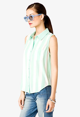 Forever 21 Vertical Striped Shirt