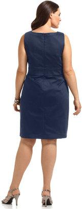 Amy Byer Plus Size Sleeveless O-Ring Sheath Dress