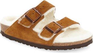 Birkenstock Arizona Genuine Shearling Lined Slide Sandal
