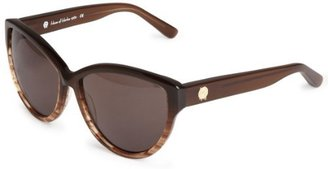 House Of Harlow Women'S Chantal Iridium Oversized Sunglasses,Coffee Frame/Black Gradient Lens,One Size