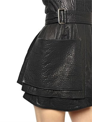 Alexander McQueen Grained Leather Dress