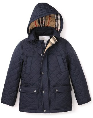 Burberry Boys' Quilted Hooded Jacket - Sizes 4-14