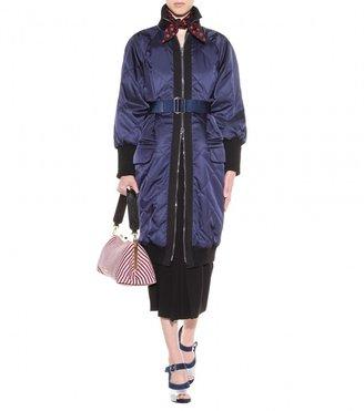 Miu Miu Jacquard tote with leather strap