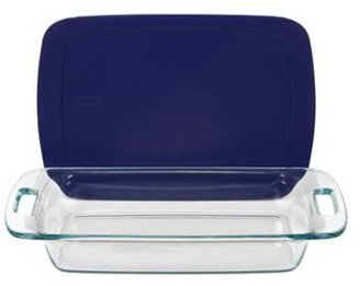 Pyrex 3-qt. Easy Grab Baking Dish with Blue Cover, Blue