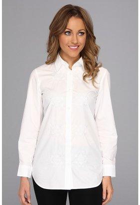 Pendleton Needlework Embroidered Shirt (White Shirting) - Apparel
