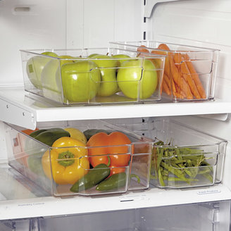 Oggi Stackable Storage Bin, Clear