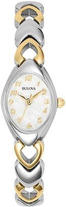Bulova Stainless Steel Two-Tone Watch - Women