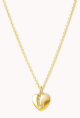 Forever 21 L Initial Charm Necklace