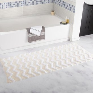 Trademark Global Lavish Home 100% Cotton Chevron Bathroom Mat - 24