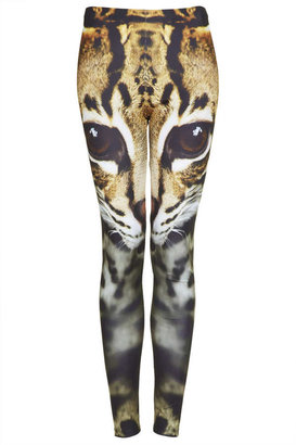 Topshop Cat Face Leggings