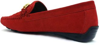 "Robert Zur Perlata"" Red Suede Woven Loafer"
