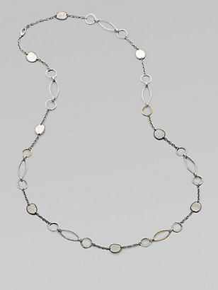 Gurhan 24K Gold & Two-Tone Sterling Silver Link Necklace