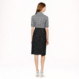J.Crew Black tweed skirt