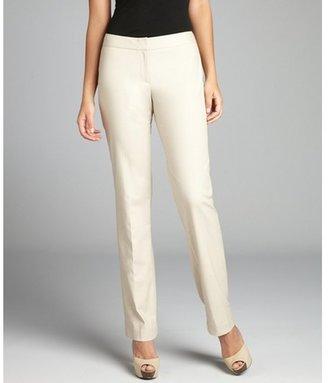 Tahari papyrus cotton blend 'Theora' straight leg pants