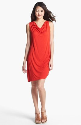 C&C California Drape Neck Asymmetrical Jersey Dress (Online Only)