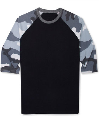 Camo Bar III Shirt, Raglan Knit T-Shirt