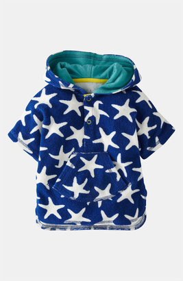 Mini Boden 'Toweling' Poncho (Baby)
