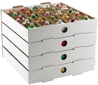 Container Store Small Ornament Storage Trays White Pkg/4