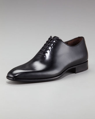 Bergdorf Goodman Leather Lace-Up Oxford