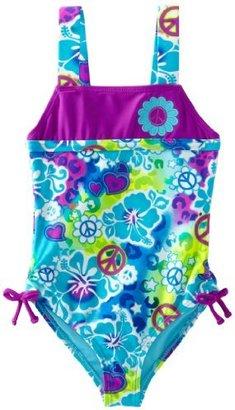 Angel Beach Girls 2-6X Hula Honey 1 Piece Swimsuit