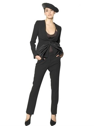 Giorgio Armani Silk Organdy And Silk Crepe Jacket