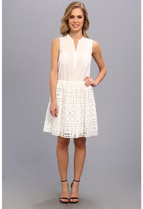 Vince Camuto TWO by S/L Two-Pocket Aztec Border Dress