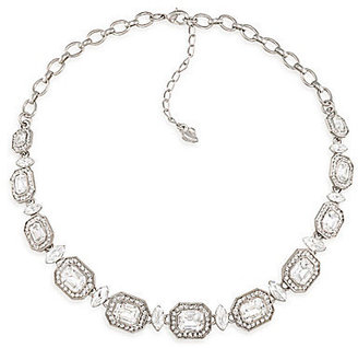 Carolee Royal Redeux Crystal & Silver Collar Necklace
