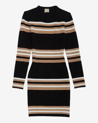 Torn By Ronny Kobo Exclusive Stripe Pattern Dress