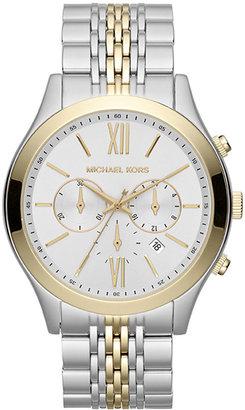 Michael Kors Men's Brookton Two-Tone Chronograph Watch