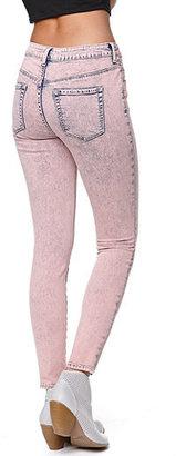 Bullhead Denim Co High Rise Coral Cloud Skinniest Jeans