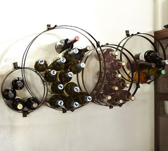 Pottery Barn Circles Wall-Mount Wine Rack