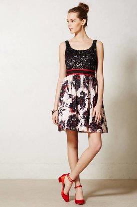 Anthropologie Brushstroke Blossoms Dress