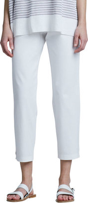 Eileen Fisher Organic Cotton Slim Ankle Pants