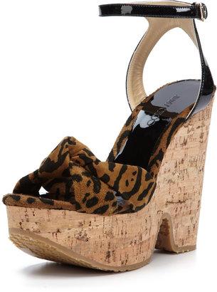 Jimmy Choo Gleam Suede Platform Chunky Sandal
