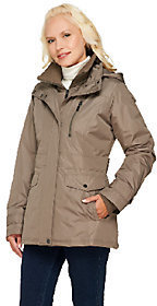 Liz Claiborne New York Zip Front Coat with Hood $31.07 thestylecure.com
