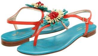 Kate Spade Felicia (Orange Nappa/Turquoise Nappa) - Footwear
