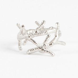 Saro Coral Branch Design Napkin Ring