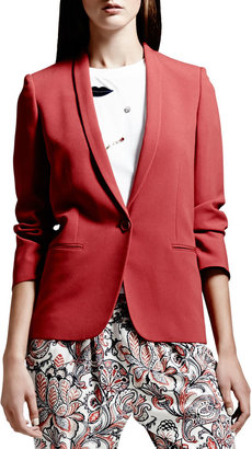 Stella McCartney Skinny-Lapel One-Button Blazer, Blush