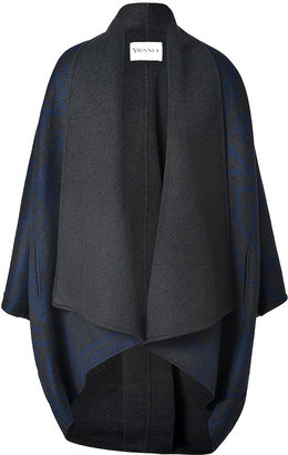 Vionnet Wool-Cashmere Cape Coat