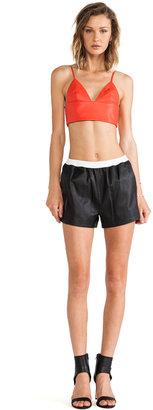 Alexander Wang Lamb Leather Shorts