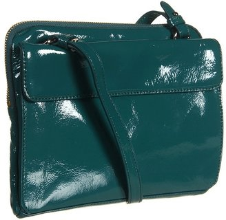 Cole Haan Jitney Multifunction Tablet Zip (Dark Teal Patent) - Bags and Luggage