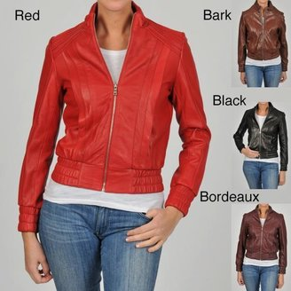 Knoles & Carter Women's Pintucked Bomber Jacket $76.99 thestylecure.com