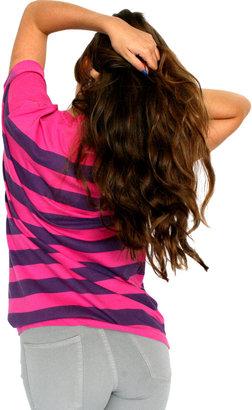 American Apparel Unisex Pigment Striped Jersey Short Sleeve Crew Neck T-Shirt