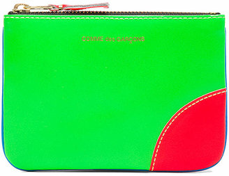 Comme des Garcons Super Fluo Small Pouch in Blue & Green | FWRD