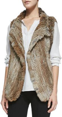 Joie Andoni Rabbit-Fur Vest