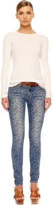 Michael Kors Paisley-Print Skinny Jeans